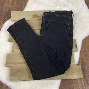 Everlane Mid-Rise Black Ankle Skinny Jeans